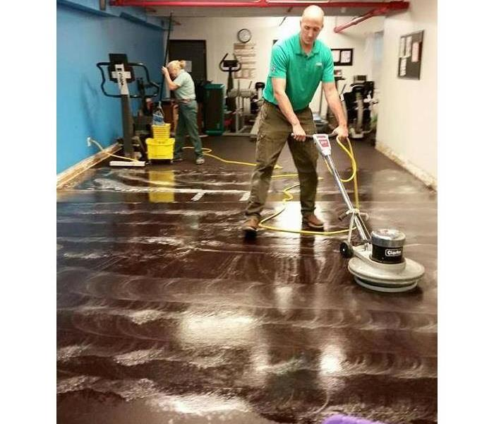 The Owner Cleaning up some Water Damage
