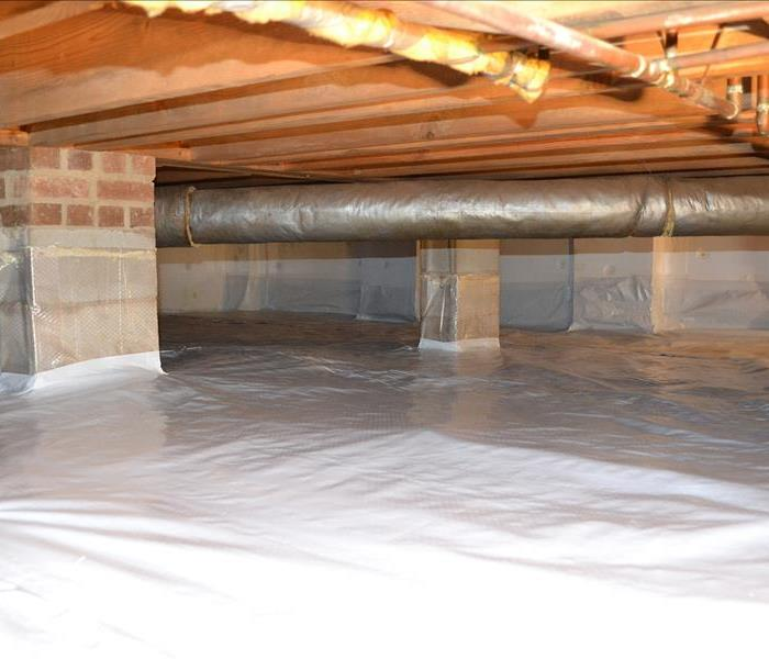 Moister barrier in crawl space